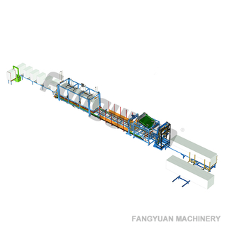 Fangyuan customizable horizontal type fully automatic polystyrene hotwire EPS foam cutting machine continuous cutting line